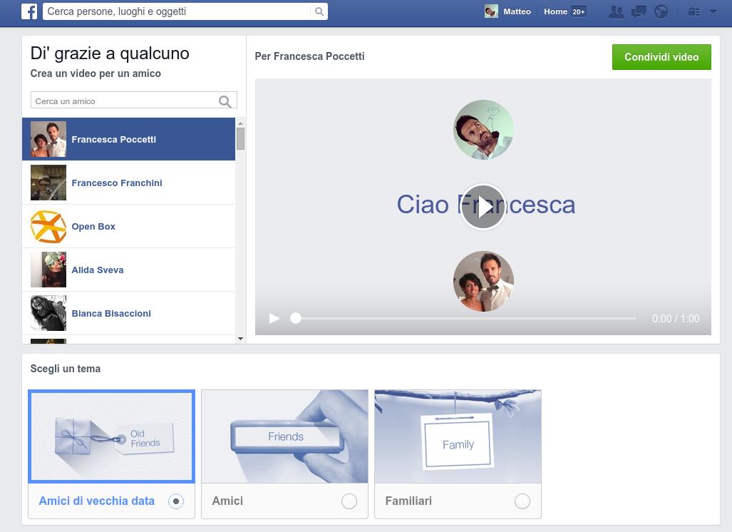 E se i video di ringraziamento di Facebook diventassero strumento di comunicazione?