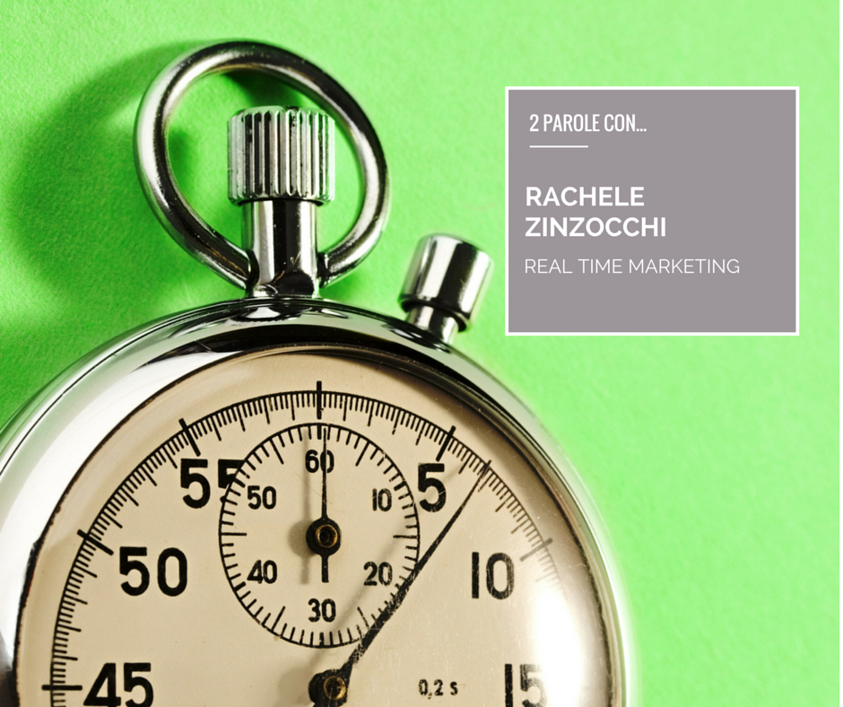 Rachele Zinzocchi – tempo di marketing, Real Time Marketing