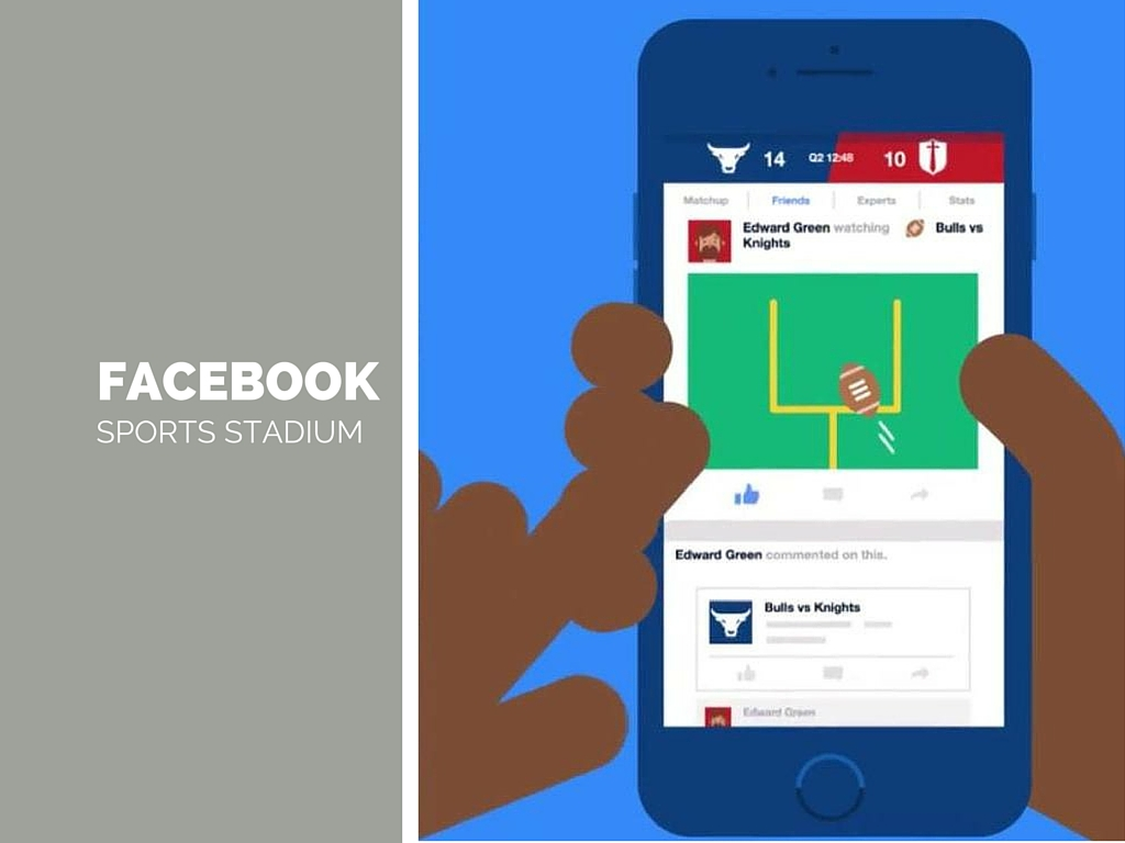 Quando i social guardano all'offline:Facebook lancia Sports Stadium