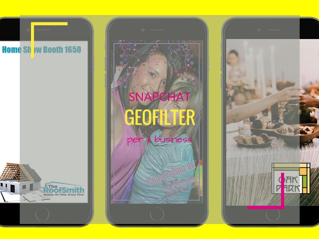 Snapchat geofilter per il business