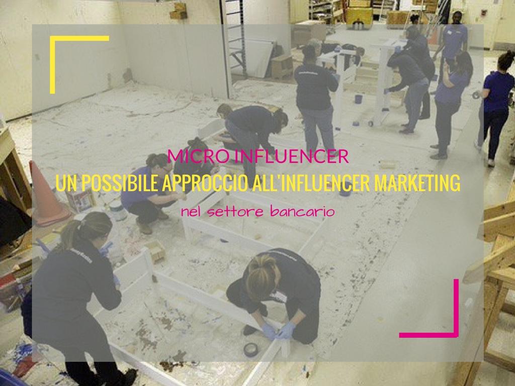 Micro-influencer, un possibile approccio d'influencer marketing nel settore bancario