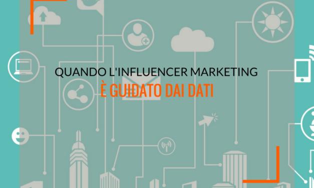Quando l'influencer marketing è guidato dai dati