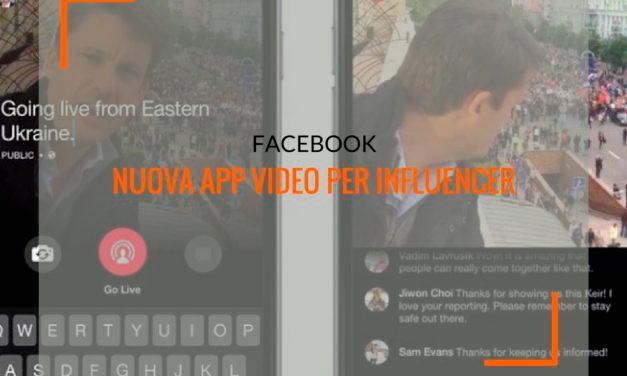 Facebook e influencer marketing: a breve un'app di creazione video dedicata